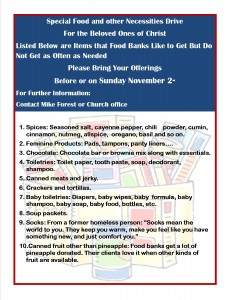 FOOD DRIVE 11 2014 FLYER JPEG